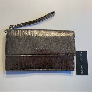 KENDALL + KYLIE Clutch Crossbody Wristlet Metallic
